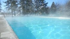 So many childhood memories: Outdoor pool at Bozeman Hot Springs in Montana. Fun to swim outside when it's snowing. Bozeman Hot Springs, Cool Places To Visit, Places To Travel, Get Away Today, Bozeman Mt, Big Sky Country, Family Road Trips, Vacation Spots, Vacation Ideas