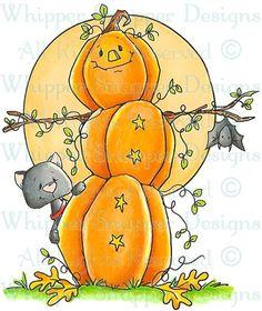 Pumpkin Snowman - Fall/Winter 2014 - Rubber Stamps - Shop