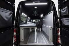 Creating a different look for the Mercedes Sprinter camper van, Hartmann Tuning keeps interior furnishings and equipment minimal and flexible, opening up a lot of space for gear and cargo. Its SP Vansports Camper looks like an intriguing way to journey deep into the outdoors and set up camp.