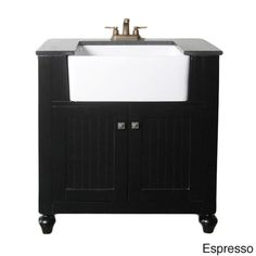 Granite Top 30 Inch Farmhouse Apron Style Single Sink Bathroom Vanity 15828105