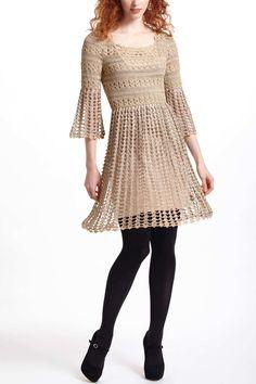 Shimmered Crochet Dress | Anthropologie.eu