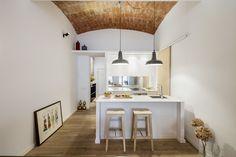 Cocina abovedada y techos al descubierto #Trends2017 #hogarhabitissimo