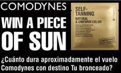 Comodynes regala muestras gratuitas y sortea lotes de sus productos.  Promoción válida para España hasta el 18/06/2013.  http://www.baratuni.es/2013/06/muestras-gratis-comodynes-self-tanning-toallitas-autobronceadoras.html  #muestrasgratis   #muestrasgratuitas   #comodynes   #baratuni #promociones