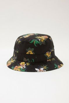 OBEY - Sativa Floral Bucket Hat, Black