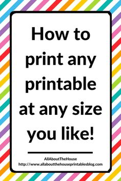 how to print any planner printable at any size you like, printing tips, page sizes, tutorial, template, kikki k, a5, filofax http://www.allaboutthehouseprintablesblog.com/planning-101-planner-lingo-what-does-it-all-mean/