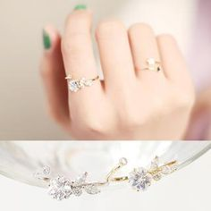 Buy 'kitsch island – Rhinestone Adjustable Ring' with Free International Shipping at YesStyle.com. Browse and shop for thousands of Asian fashion items from South Korea and more!