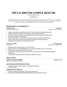 Resume Samples For Truck Drivers Powerful Words In Resume Writing  Experts' Opinions  Baseball .