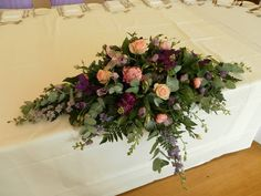 Top table arrangement at coombe lodge