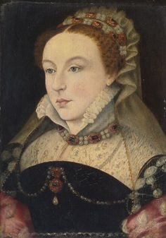 Follower of Clouet, portrait of Mademoiselle Chabot. Date unknown, 1560s.