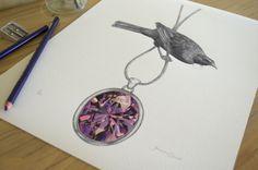 Tui & Amethyst By Joanne Bowe New Zealand Artist