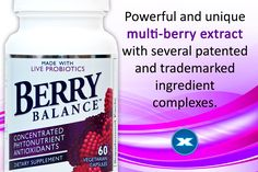 Berry Balance is made with twelve key nutrient-rich fruit, berry, fruit skin and seed extracts and is rich in antioxidant polyphenols such as ellagic acid, anthocyanins and other flavonoids. Health And Wellness, Berry, Vegetarian, Nutrition, Fruit, Food, Products, Health Fitness, Essen