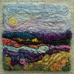 Needle Felted and Hand Embroidered by saffrontextilestudio on Etsy, $190.00