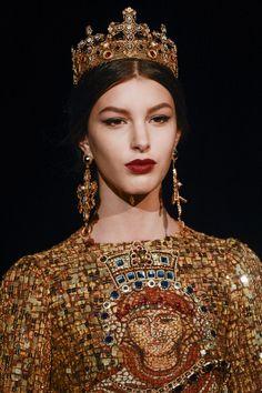 Kate King at Dolce & Gabbana
