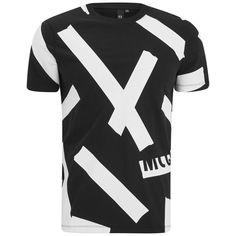 McQ Alexander McQueen Men's Printed Short Sleeve Crew T-Shirt -... (485 SAR) ❤ liked on Polyvore featuring men's fashion, men's clothing, men's shirts, men's t-shirts and black