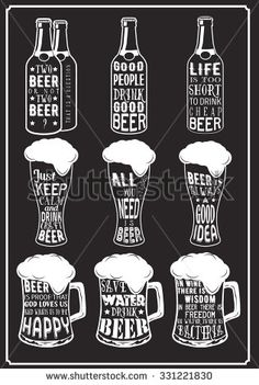 Illustration about Set of beer typography vintage Quotes prints. Illustration of brewing, beer, lager - 61685315 Arte Bar, Gravure Photo, Beer Quotes, Quotes About Beer, Beer Art, Vintage Quotes, Vintage Typography, Chalkboard Art, Chalk Art