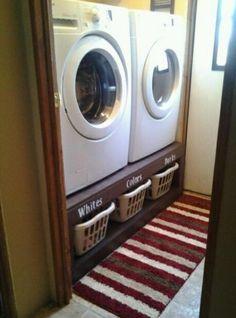 Wäsche sortierten