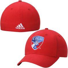 FC Dallas adidas Team Logo Structured Flex Hat - Red - $17.99