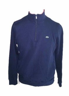 Mens Lacoste 1/4 Zip Pullover Sweatshirt Sweater Size 6 Stitched Collar  #Lacoste #14Zip