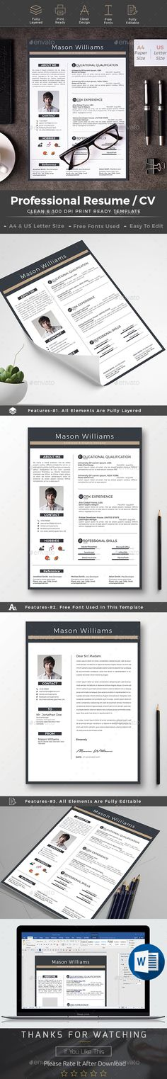 #Resume - Resumes Stationery Download here: https://graphicriver.net/item/resume/19243496?ref=alena994