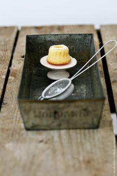 Miniature orange ricotta ring cake