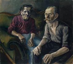 Otto Dix (German, 1891-1969),Bildnis der Eltern I [The Parents I], 1921. Oil on canvas, 99 x 113 cm.