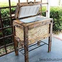 Rustic Cooler Box made from Recycled Pallets!