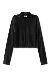 <p>The Isolde Top is a minimal-meets-lux top in a rich velvety material. It has a regular fit, long sleeves and a mock turtleneck.<br />-<br />- Size Small measures 87 cm in chest circumference, 47 cm in length and 63 cm in sleeve length.</p>