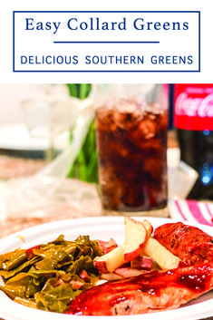 Make delicious collard greens with this easy recipe from Everyday Party Magazine #CollardGreensRecipe #EasyRecipes #SouthernRecipes