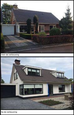 New house exterior colors modern architects Ideas Bungalow Exterior, Bungalow Renovation, Dream House Exterior, Exterior House Colors, Modern Exterior Doors, Interior Exterior, Interior Trim, Green House Paint, Facade Design