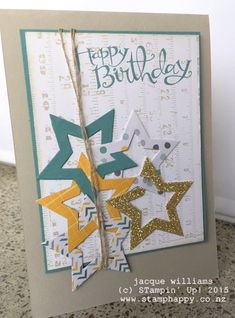 stampin up moonlight stack stars masculine