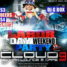☆☆☆☆☆TONIGHT☆☆☆☆☆  CLOUD 9 HOOKAH LOUNGE & CAFE 2880 HOLCOMBE BRIDGE RD ALPHARETTA, GA  ☆☆☆LABOR DAY WEEKND ☆☆☆ $3 BEERS $4 SHOTS #HOOKAHS #BOTTLESERVICE #FOOD #INTERNATIONALCROWD  ☆☆☆FLAWLESS FRIDAY'S FOLLOW ON IG:@CLOUD9HOOKAHATL IG:@DJGBOXATL  P.S. LADIES & GENTS COME FLAWLESS APPEARANCE IS EVERYTHING     @flipagram ♫ Music: Beyonce ft Nicki Minaj - Flawless (Remix Dirty)