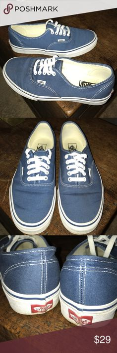 Vans shoes Vans shoes in like new condition. Only worn 2x. Size 9.5 men and 11 woman. Vans Shoes