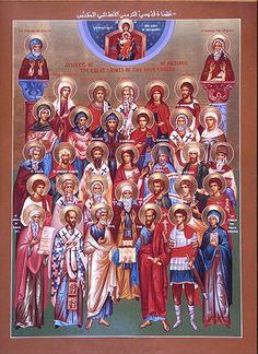 All Saints of Antioch Icon (this links to a brief survey of many of the Saints of Antioch, including Sts. Ignatius, Thekla, Nona, John Chrysostym, St. John of Damascus...)