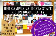 #HCValdosta Vision Board Party Social Media Flyer   Spring 2016