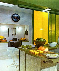 Modern house design for tropical climate 1960s Interior, Mid-century Interior, Vintage Interior Design, Vintage Interiors, Kitchen Interior, House Design Photos, Cool House Designs, Modern House Design, Mid Century Decor