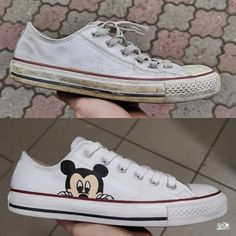 Behind The Scenes By pimpmyshoesofficial Dad And Son Shirts, Converse, Vans, Custom Sneakers, Walt Disney, Behind The Scenes, Street Art, Dior, Shoes