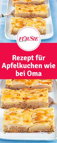 Rezept für versunkenen Apfelkuchen wie bei Oma Cupcakes, Cereal, Cookies, Breakfast, Food, Pie, Apple Recipes, German Apple Cake, Food Food