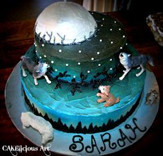 Wolf Themed Birthday Cake