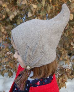 Upcycled Wool Sweater Elf Hat