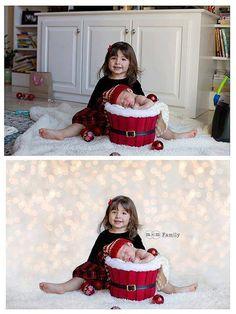 Holiday Christmas Lights Digital Photography Backdrop - MBP - Modern Market