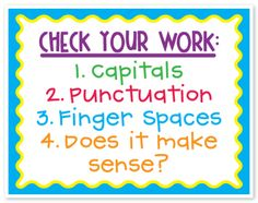 Check Your Work! Saw something like this in first grade classes at Roosevelt yesterday! great way to bridge the reg. school day with BEST- during homework time!
