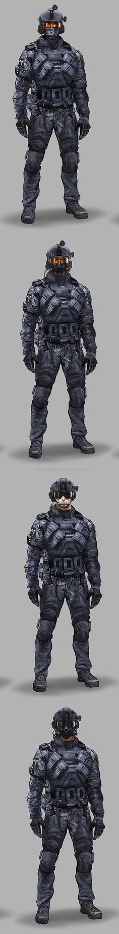 Early Black Ops 2 Concepts_ASSAULT_head_alts by Eric Chiang