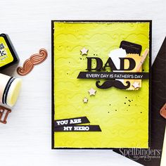 Yana is here today sharing a great way to stretch your dies and also showing how to make a simple #FathersDay Card for the upcoming holiday.