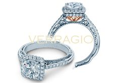 VENETIAN-5053CU-TT engagement ring from The Venetian Collection of diamond engagement rings by Verragio