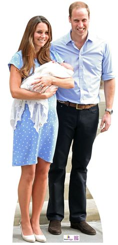 Kate, William & George cardboard cutout