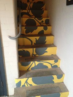 YDA Branded Flock Painted Concrete Stairs To Design Studio Entrance
