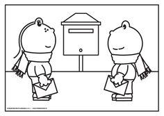 Frokkie en Lola doen een brief op de post #echtepostiszoveelleuker ;-)