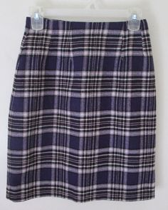 J.G. Hook womens purple plaid knee length skirt size 2P lined wool  #JGHook #StraightPencil.  http://www.ebay.com/itm/J-G-Hook-womens-purple-plaid-knee-length-skirt-size-2P-lined-wool-/281826455067?ssPageName=STRK:MESE:IT