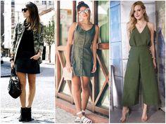 Verde-musgo, camuflado, jaquetas e coturnos... A tendência militar está de volta. E dessa vez, mais feminina do que nunca!