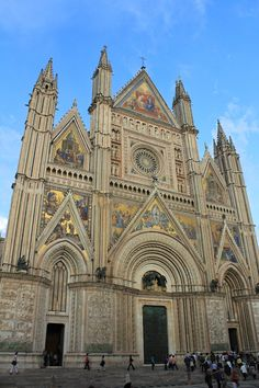 Orvieto Cathedral, Umbria, Italy. Our main traveling  base!  Awesome! Marie Colello